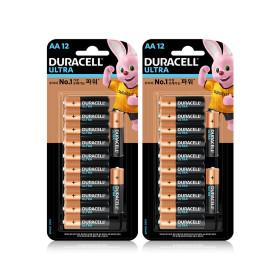울트라 알카라인 건전지 AA /12입x2개+손풍기