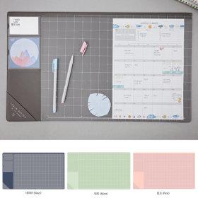 베이직 데스크매트 마우스패드 책상매트 고무판 투명