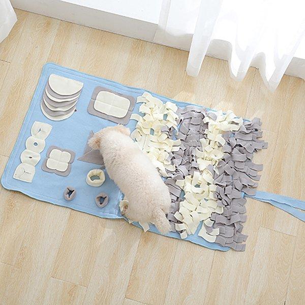파스텔 노즈워크-대형(스카이)/강아지 장난감 코 담요 상품이미지
