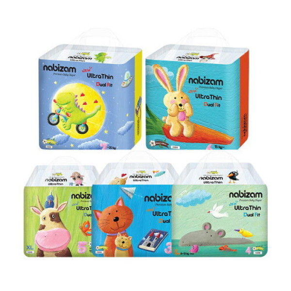 나비잠 울트라씬 팬티 듀얼핏 기저귀 4팩 상품이미지