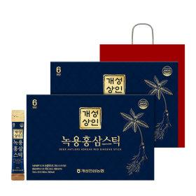 Gaesung Merchant DEER ANTLERS KOREAN RED GINSENG STICK 10ml 30 Sticks 1+1 Gaesung Ginseng NH