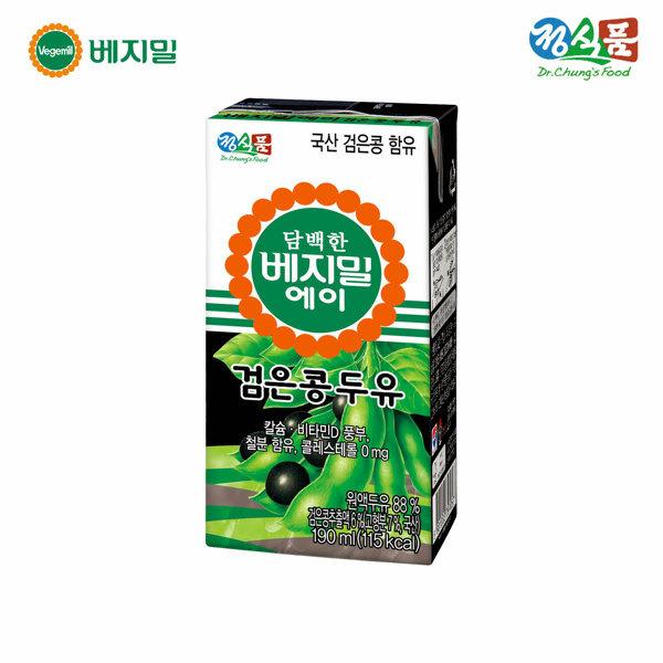 (현대Hmall) 정식품 담백한 베지밀 에이 검은콩 두유 190mlx64팩 상품이미지