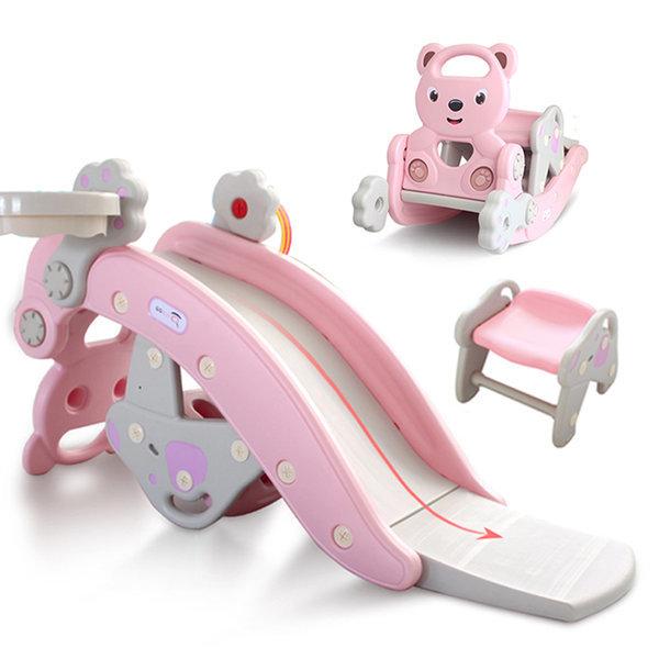 3IN1 유아용 다기능 미끄럼틀 흔들말 실내 놀이기구 상품이미지