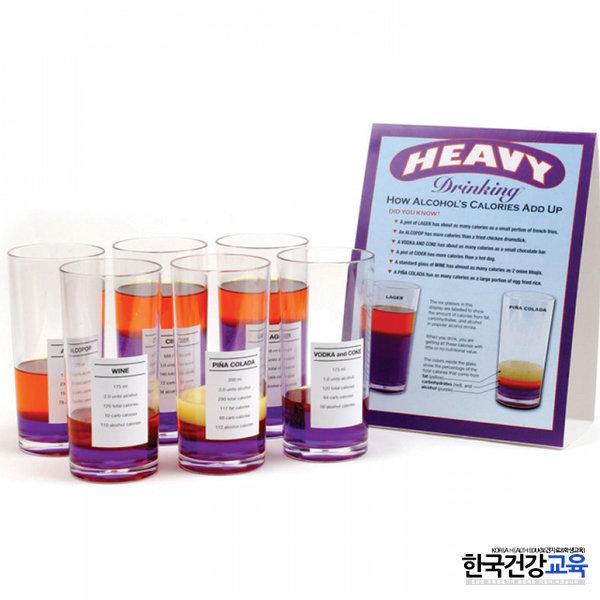 보건교육용품-술잔의성분표시 모형(보건수업용품) 상품이미지