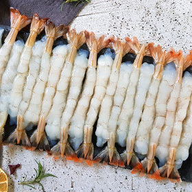 껍질없는 튀김용새우 A급 노바시새우 30미