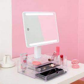 뷰티박스 LED 거울 화장품정리함