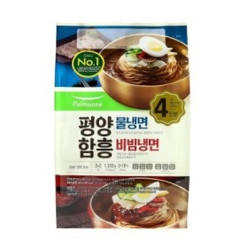 풀무원 평양물냉면2인+함흥비빔냉면2인(1390G)
