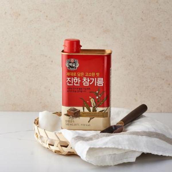 백설 진한참기름(캔) 500ML 상품이미지