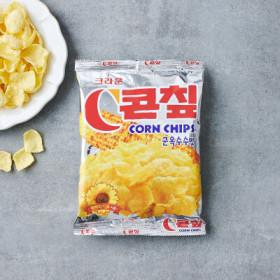 크라운 콘칩 군옥수수맛 (70G)