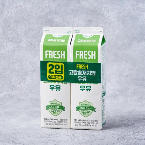 푸르밀 고칼슘저지방우유 900ML 2입기획 상품이미지