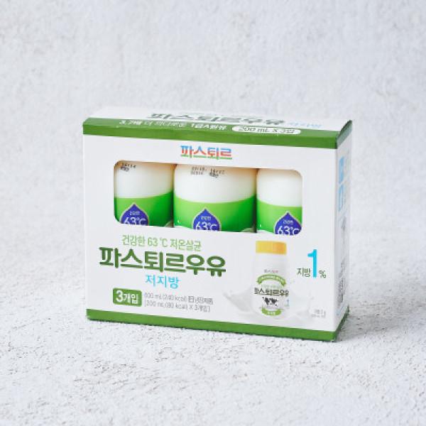 파스퇴르 저지방 고칼슘 우유 3입기획(200ML 3) 상품이미지