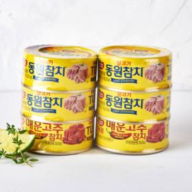 동원 살코기+매운고추참치 100G 4+2입기획