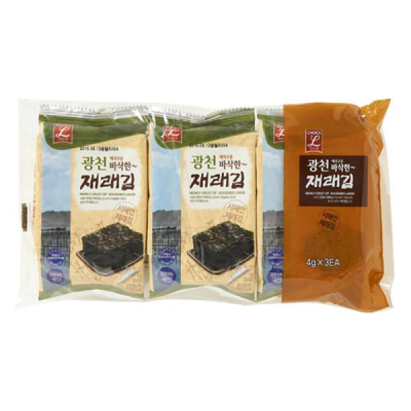 초L)광천 재래김 3봉 상품이미지