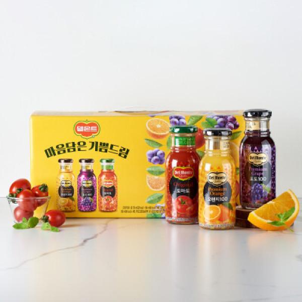 롯데 델몬트종합(오렌지+포도+토마토)180ML 12 상품이미지