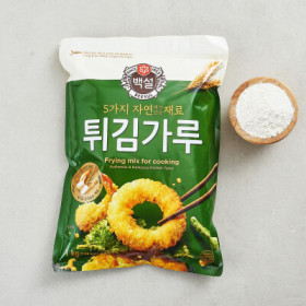 백설 자연재료 튀김가루 1KG