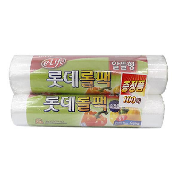롯데 위생롤백(중)+100매(알뜰형) 상품이미지