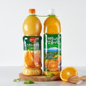 롯데 스카시플러스 오렌지+제주감귤 1.5L 2
