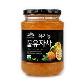 유기농 꿀유자차 560G