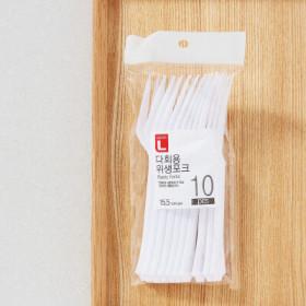 초L)다회용위생포크15.5 10입
