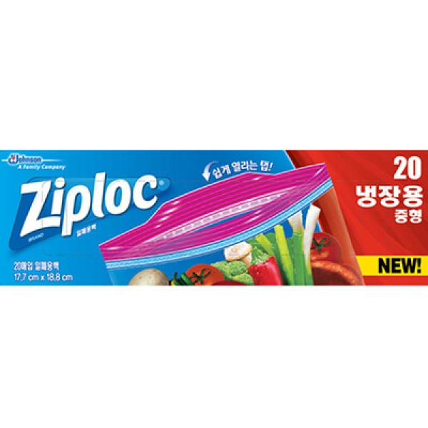 지퍼락)지퍼백이지오픈탭(중)20매 상품이미지