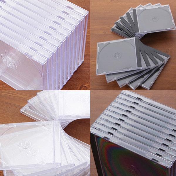 고급쥬얼 1CD쥬얼케이스 20장(블랙/투명) 시디케이스 상품이미지