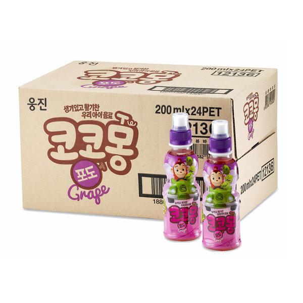 코코몽 키즈 음료 포도맛 200ml x 24병 x 2박스 상품이미지