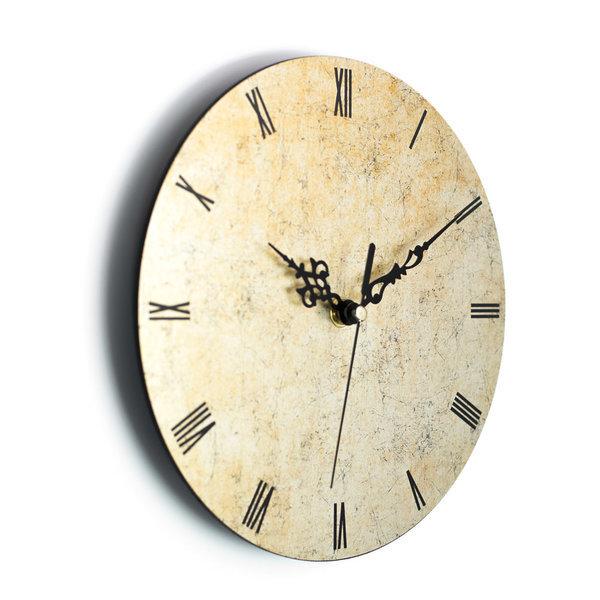 붙이는벽시계 무소음시계 로만 스톤골드 상품이미지