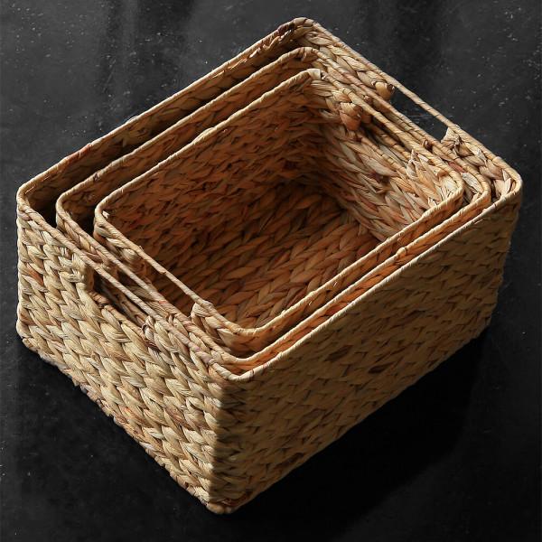 해초 수납바구니 3개세트 (인테리어 왕골 라탄 커버) 상품이미지