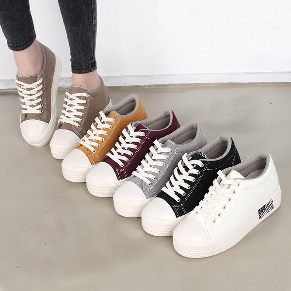 여성 키높이 신발 운동화 스니커즈 단화 6cm 상품이미지