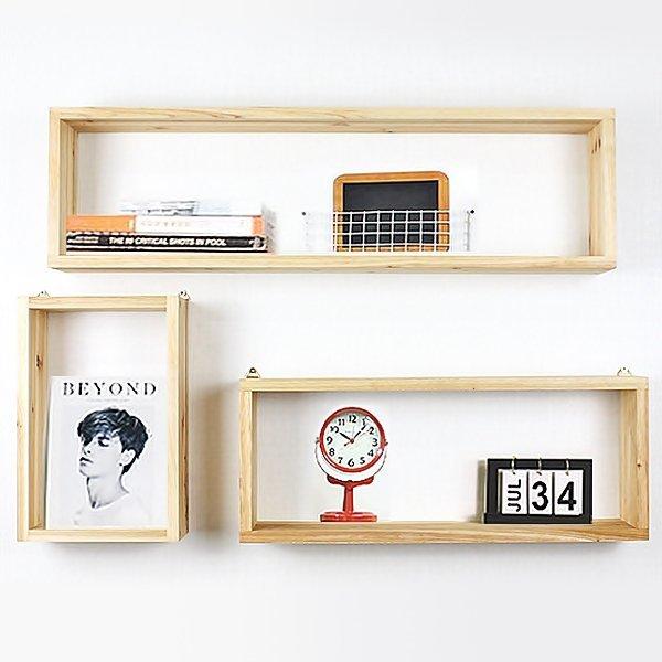 원목 벽걸이선반 큐브/주방.수납선반 공간박스 상품이미지