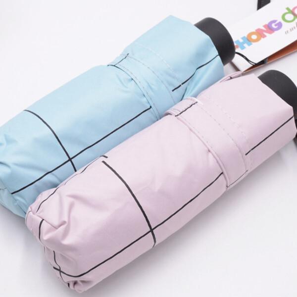 격자무늬 초미니 5단암막우양산 장우산 초경량미니우 상품이미지