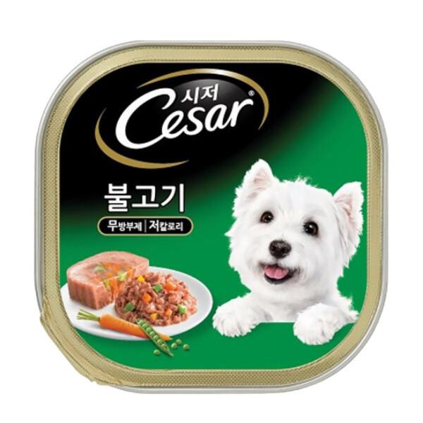 시저 강아지캔 불고기 100g x 24개 강아지사료 상품이미지