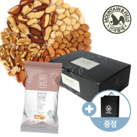[산과들에] 하루견과 브라질너트 한줌견과 순수누리 50봉 선물세트 + 쇼핑백