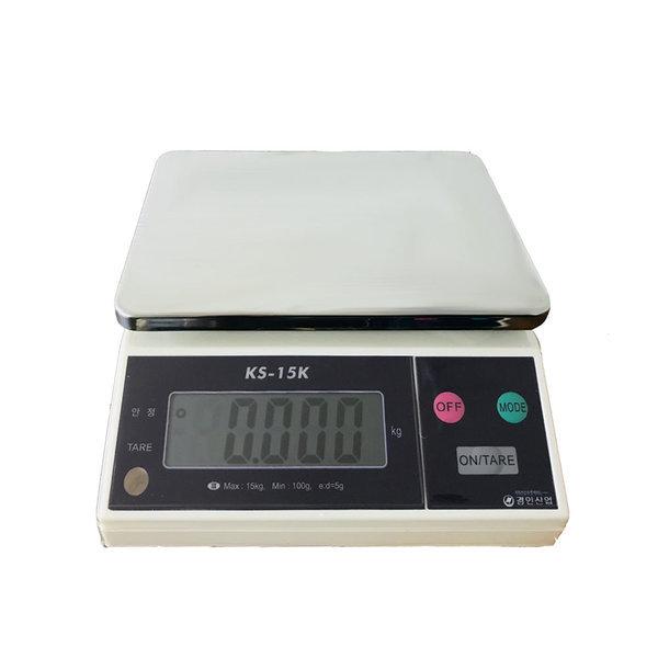 경인 저울 KS - 15kg(5g) 전자저울 주방저울 양면표시 상품이미지