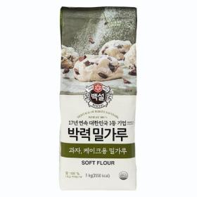 백설 박력밀가루 1kg