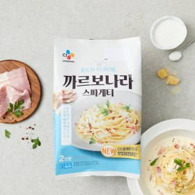 CJ 까르보나라 스파게티 600g(2인분)