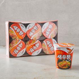농심 새우탕(컵) 67g x 6개