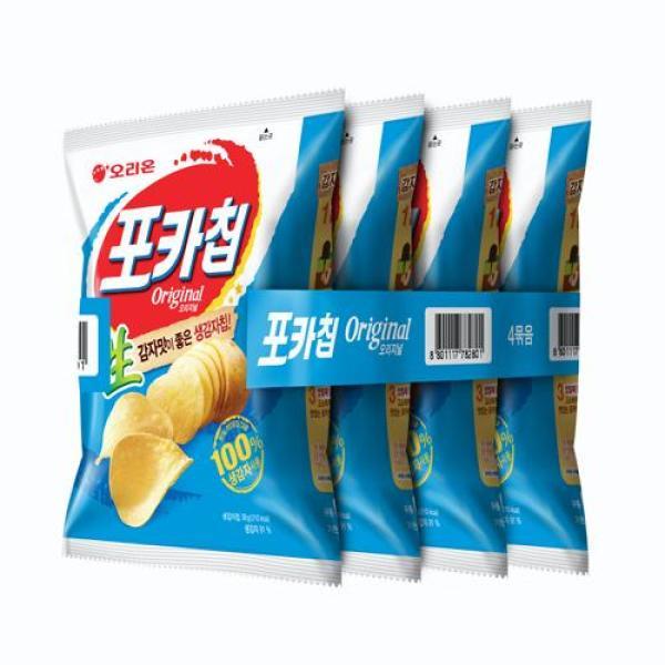 오리온 포카칩(오리지널) 38g x 4봉 상품이미지