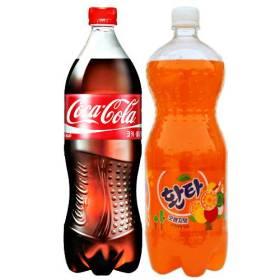 코카 콜라 1.5L+환타 오렌지 1.5L