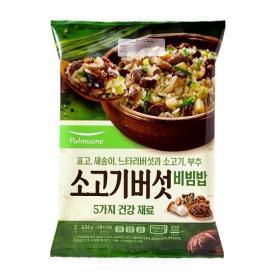 풀무원 소고기버섯 비빔밥 424g
