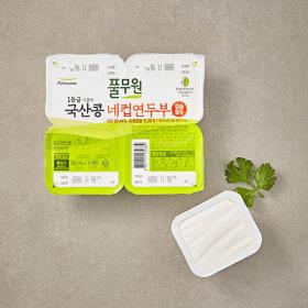 풀무원 국산콩 간편한 네컵연두부 90G 4입