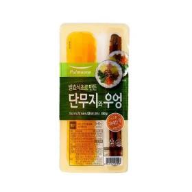 풀무원 새콤달콤한 김밥용 단무지와 우엉 350G
