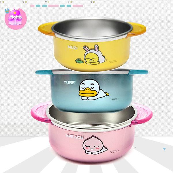 카카오 투명 스텐 공기 유아 식기 아동 어린이집 선물 상품이미지