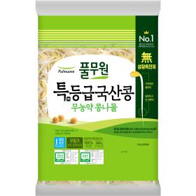 국산콩 무농약 안심 콩나물 340g