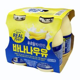 리얼)바나나우유 225ML 4입