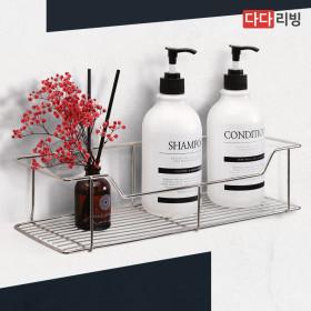 타이탄 매직 후크 사각 선반 1단 /스텐 욕실 흡착