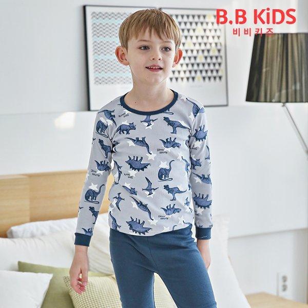 (비비키즈)  비비키즈  아동내복 쥬라기 긴팔내의세트 상품이미지