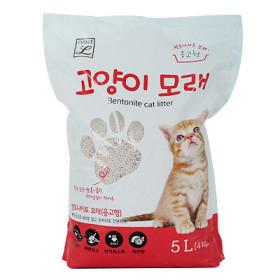 초L) 고양이 모래 5L (벤토나이트)