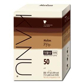 카누 더블샷 라떼 50T+메모패드: 공유의 커피~