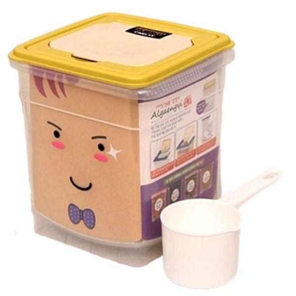 씨밀렉스 스마일 잡곡통 3.8L 쌀통 잡곡통 쌀독 쌀 상품이미지